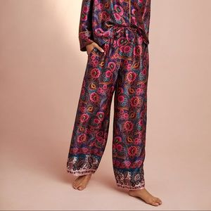 Anthropologie•Silky Printed Pajama Pants